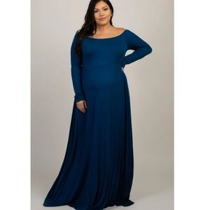 Pinkblush Plus Size Maternity - Off Shoulder Dress